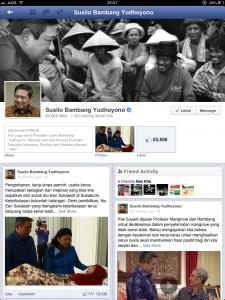 Laman Fanpage SBY di Facebook