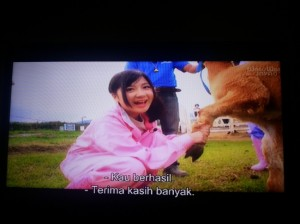 Bersalaman dengan hewan tanda Misi Berhasil (capture foto: Syaifuddin)