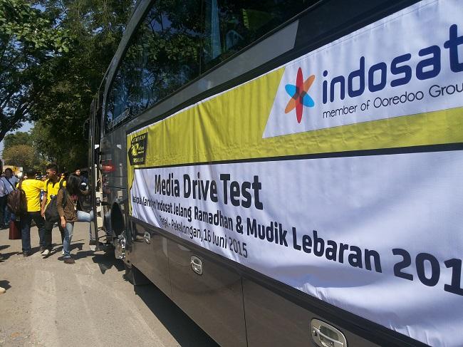 Network Drive Test Indosat (foto koleksi pribadi)