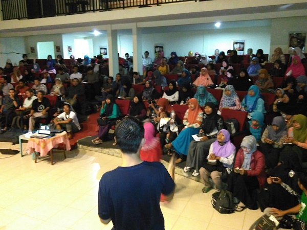 Suasana Workshop, Super Padat Pesertanya (foto dokpri)