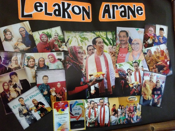 Ada Jokowi di Photo Wall Pempek Arane (foto dokpri)