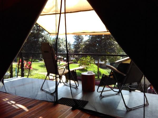 Teras Camp dilihat dari dalam (foto dokpri)