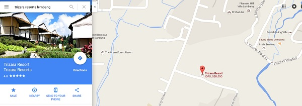 Peta Jalan Menuju Trizara Resorts